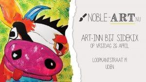 Bijzondere tentoonstelling kunstenaars met verstandelijke beperking bij Sidekix