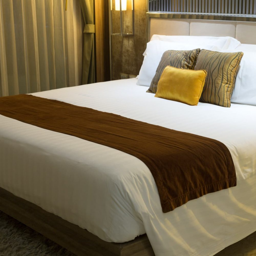 bed in the hotel